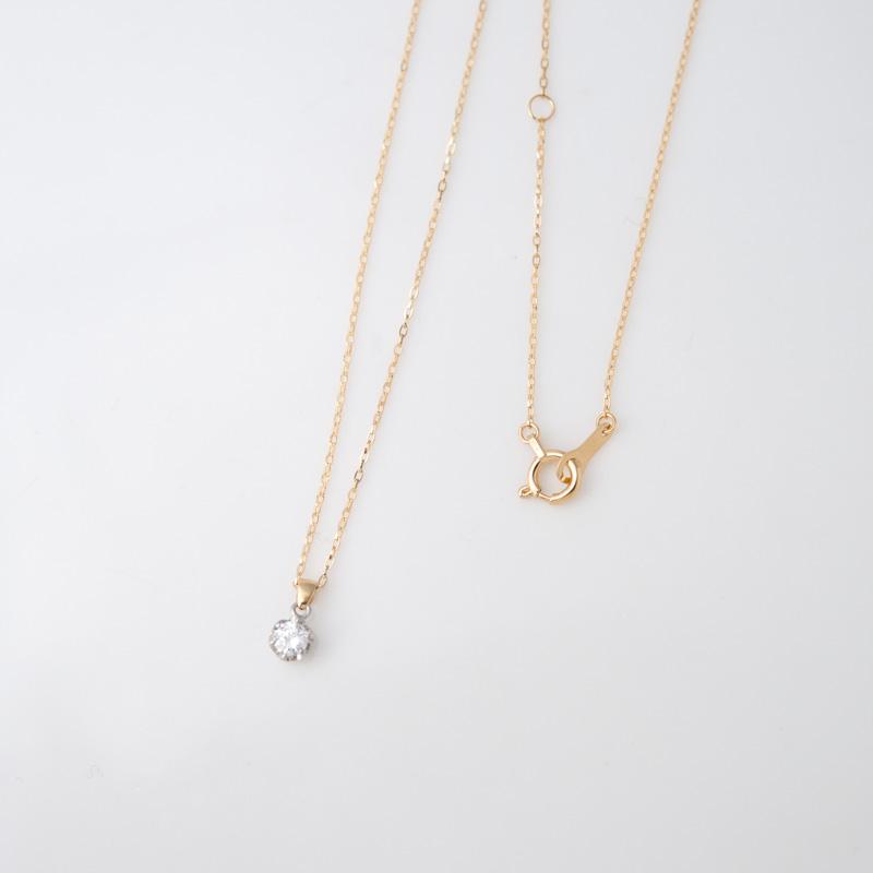 クロッシェ ダイヤモンド K18YG ネックレス