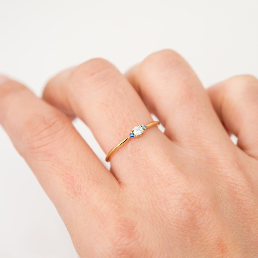 【1点もの】オールドカットダイヤモンド  K18YG リング