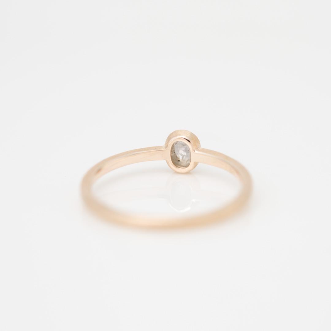 【1点もの】オーバル ナチュラルダイヤモンド  K10YG リング